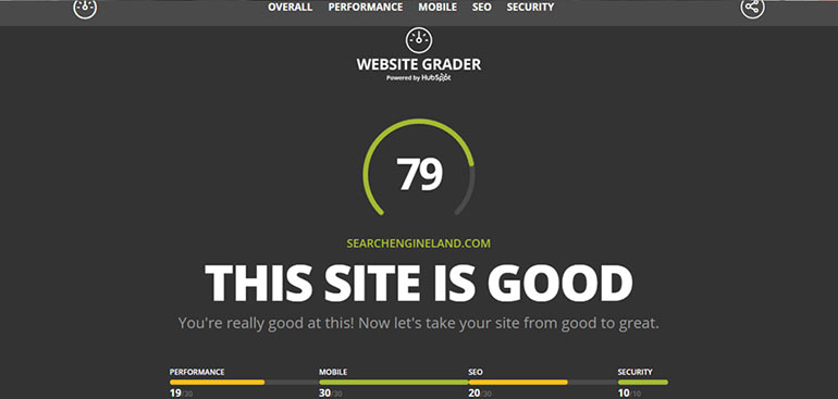 Website grader test